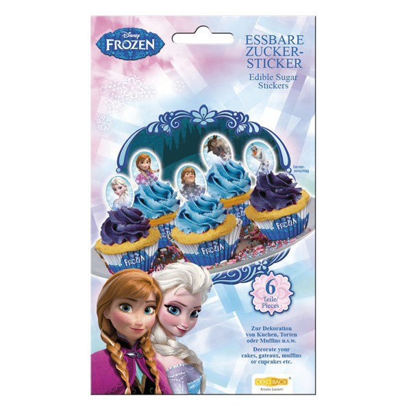 Frozen Edible Sugar Stickers 6 pieces