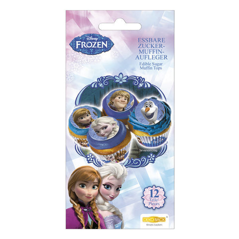 Frozen Cupcake Toppers Edible Sugar 12 pieces