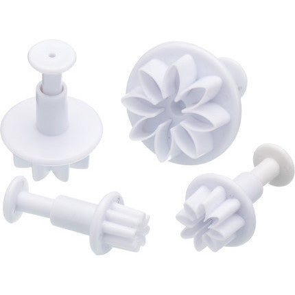 KC Sweetly Does It Set of Four Flower Fondant Plunger Cutters