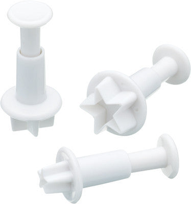KC Sweetly Does It Set of Three Star Fondant Plunger Cutters