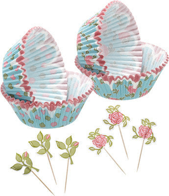 KC Sweetly Does It Floral Patterned Cupcake Kit