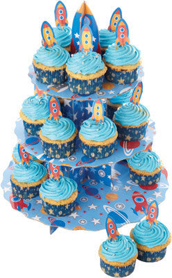 KC Let's Make Rocket Design Cupcake Stand Set