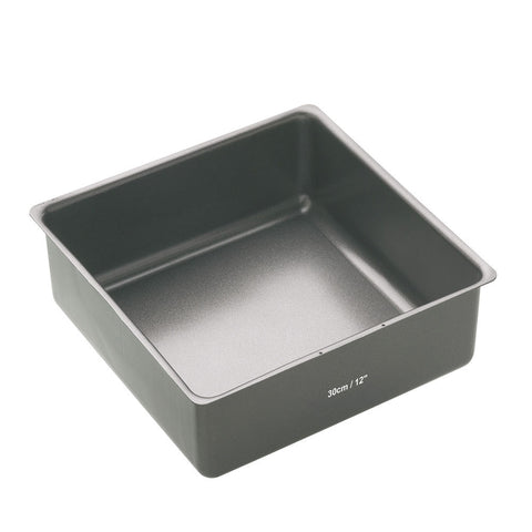 MASTER CLASS NON-STICK 30CM LOOSE BASE DEEP CAKE PAN SQUARE