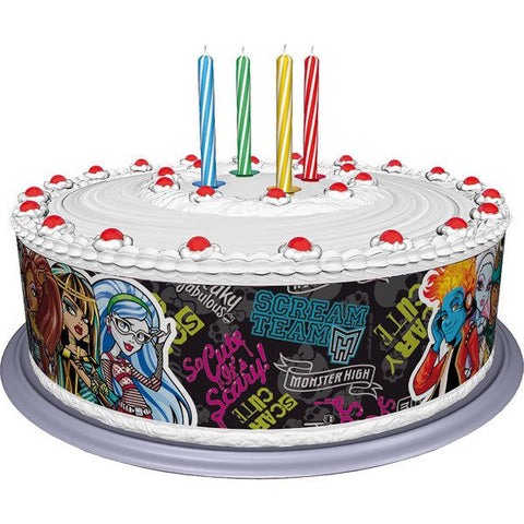 Monster High Cake Band (Edible Sugar Sheet) Tortenband 3 x (27x6cm)