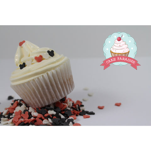CP Mickey Red/Black/White Sprinkles 125gr