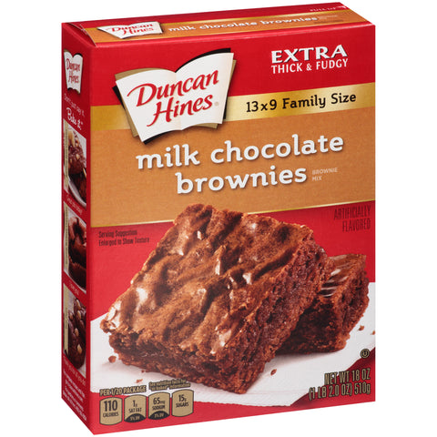 Duncan Hines Milk Chocolate Brownie