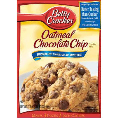 Betty Crocker Oatmeal Chocolate Chips Cookie Mix