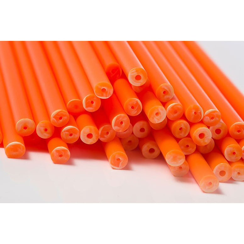 Lollipop Stick Plastic 89mm Orange (50pcs)