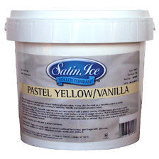 Satin Ice Pastel Yellow Vanilla Fondant 1kg (9 Oct. 2016)