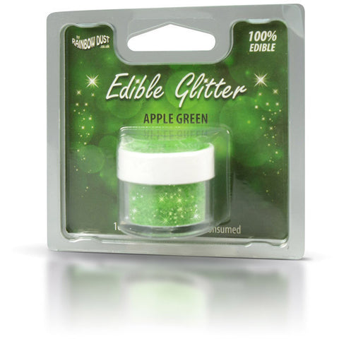 Rainbow Dust Edible Glitter Apple Green (5gr)