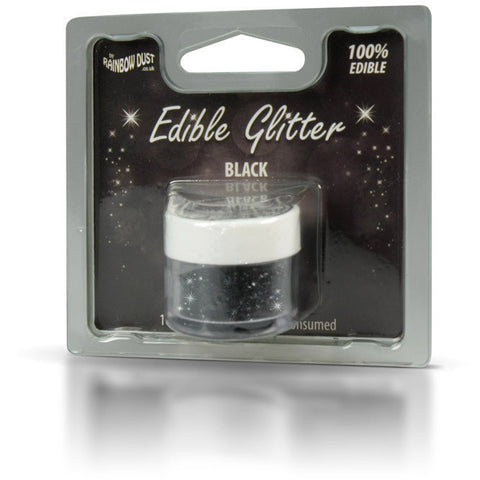 Rainbow Dust Edible Glitter Black (5gr)