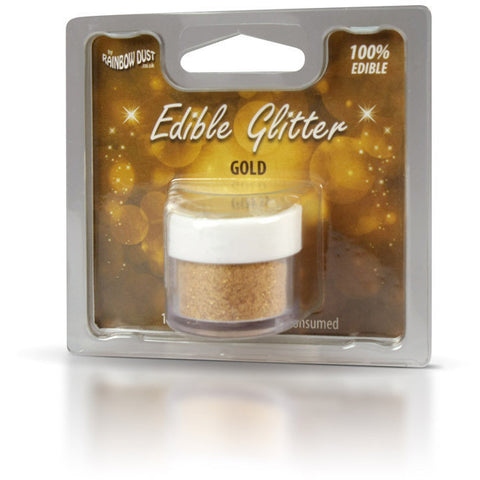 Rainbow Dust Edible Glitter Gold (5gr)