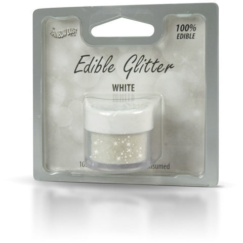 Rainbow Dust Edible Glitter White (5gr)