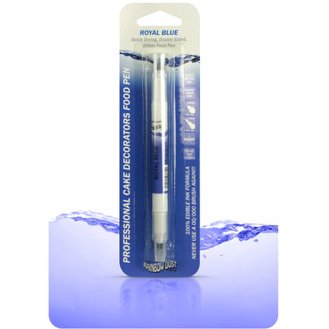 Rainbow Dust Edible Food Pen Royal Blue (Double Sided)