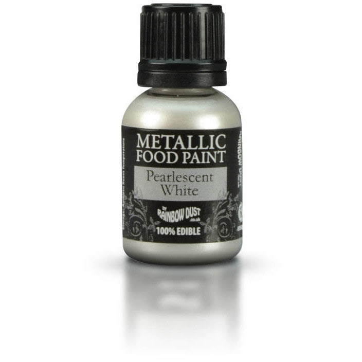 Rainbow Dust Metallic Food Paint Pearlescent White 25ml