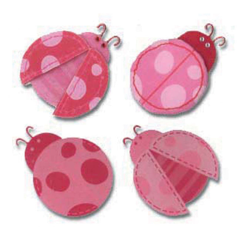Jolee's Boutique Pink ladybugs 4pcs