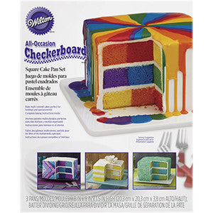 Wilton SQUARE CHECKERBOARD CAKE PAN SET