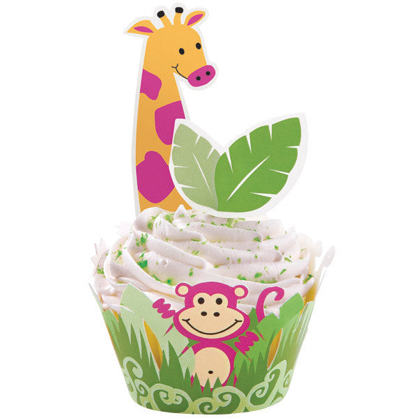 Wilton Cupcake Wraps & Pics Jungle Pals