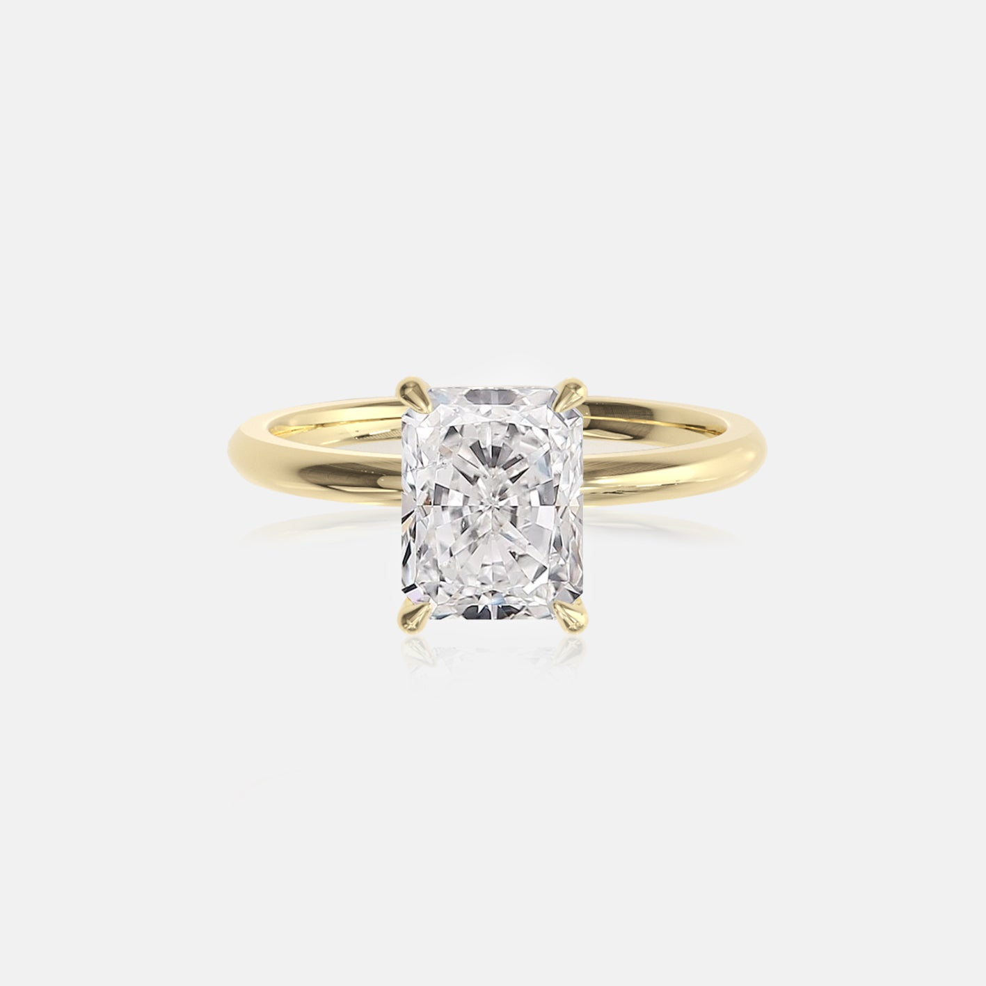 Radiant Moissanite Ceremonial Solitaire