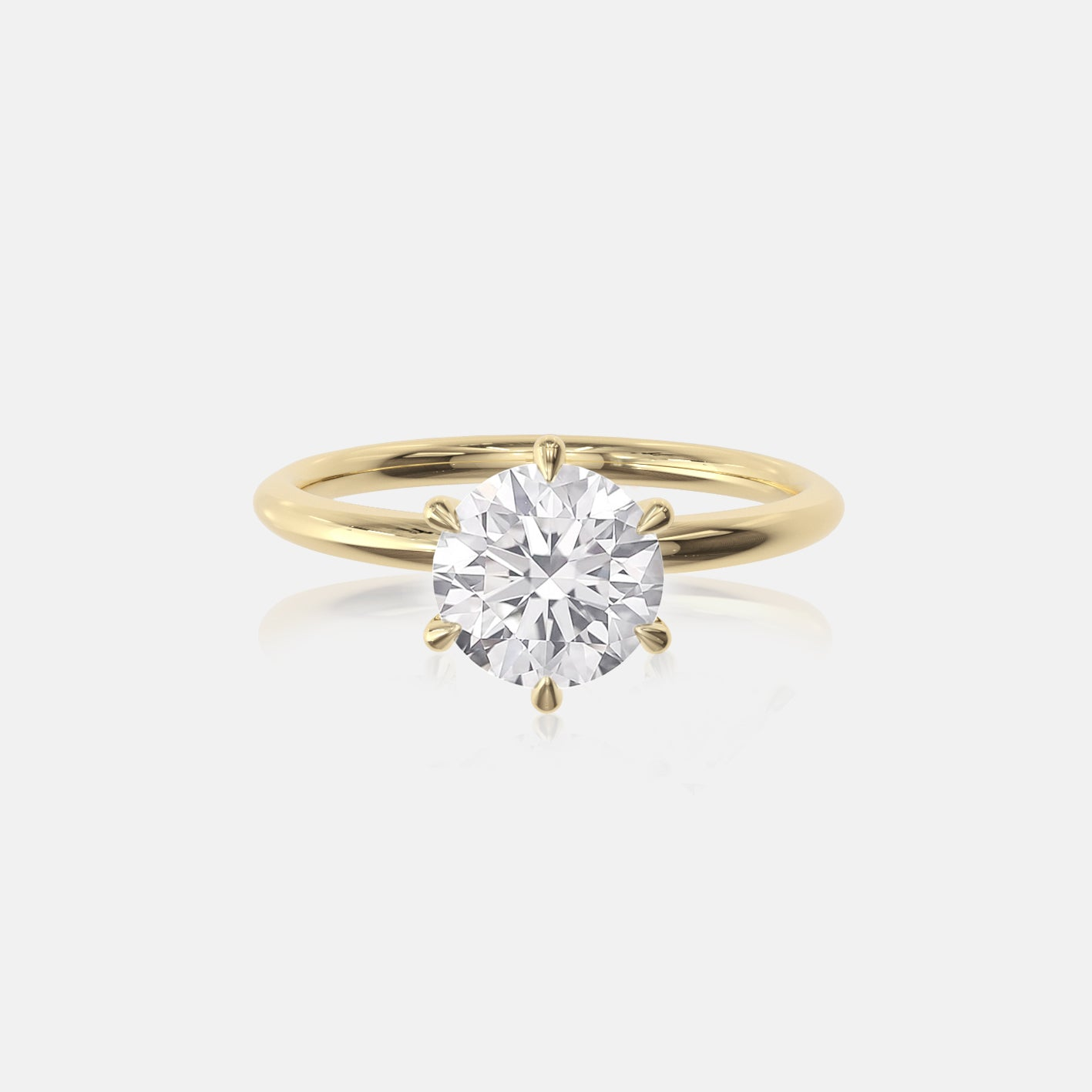 Round Moissanite Ceremonial Solitaire