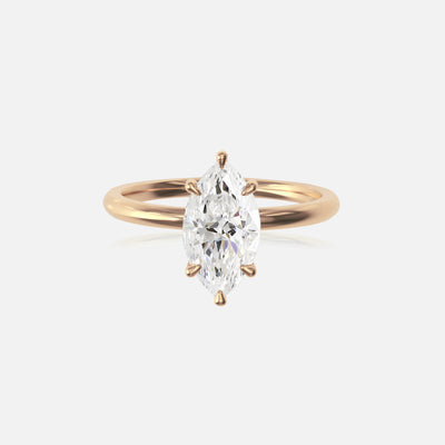 Marquise Moissanite Ceremonial Solitaire