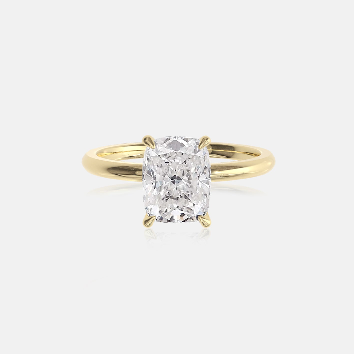 Elongated Cushion Moissanite Ceremonial Solitaire