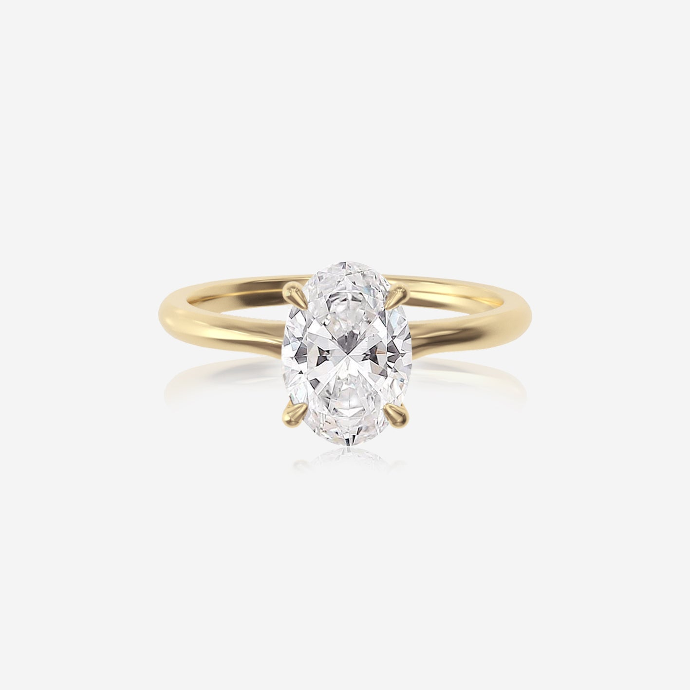 Oval Moissanite Classic Solitaire