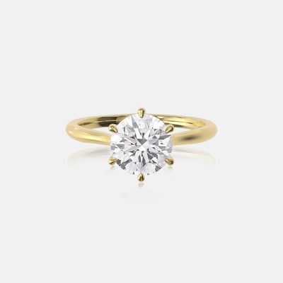 Round Moissanite Classic Solitaire