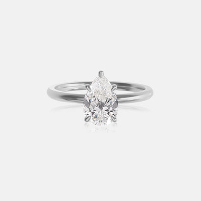 Pear Moissanite Ceremonial Solitaire