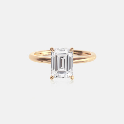 Emerald Moissanite Ceremonial Solitaire