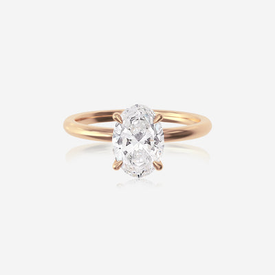 Oval Moissanite Ceremonial Solitaire