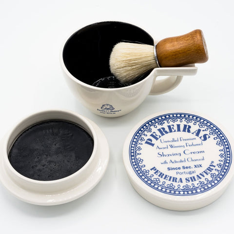 Pereira Shavery Portugal Activated Charcoal Shaving Soap