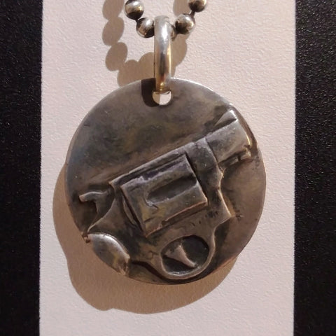 38 Smith & Wesson Gun Pendant Sterling Silber Anhänger
