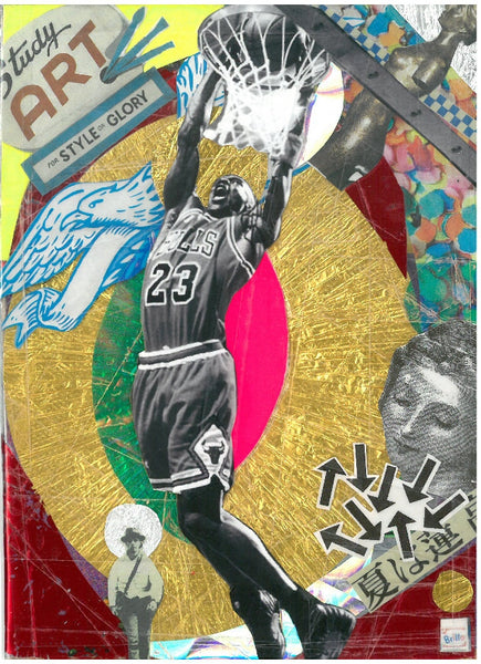 André Boitard Michael Jordan Hommage Collage Original Popart