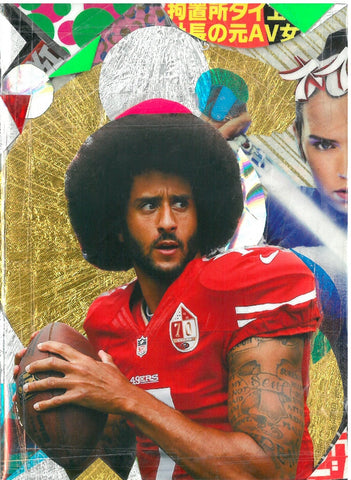 André Boitard Kaepernick Collage Artwork Original A6 Black Power