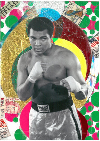 André Boitard Muhammad Ali Collage Original Artwork A6