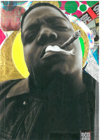 Andre Boitard Notorious Big Collage Artwork Original A6 Hip Hop