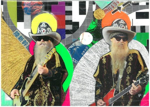Andre Boitard ZZ Top Hommage Artwork Collage Popart Berlin