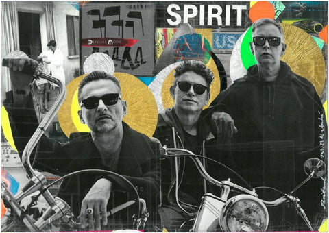 André Boitard Depeche Mode Collage Artwork Original popart