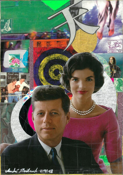 André Boitard JFK Hommage Collage Artwork Original popart