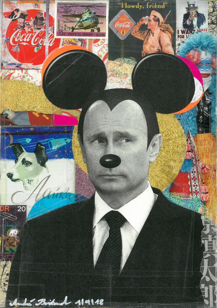 André Boitard Putin Hommage Collage Artwork Original popart