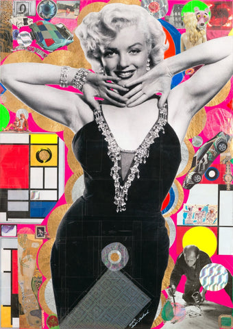 André Boitard Marilyn Monroe Collage Artwork Original