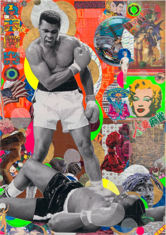 André Boitard Muhammad Ali Collage Original Artwork