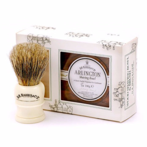 ARLINGTON SHAVING GIFT SET MAHOGANY