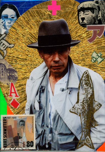 André Boitard Joseph Beuys Collage Original Artwork A6