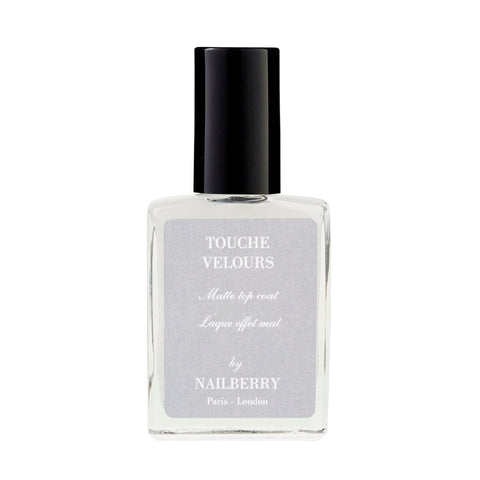 Nailberry Vegan Nagellack matte top coat Touche Velours Luxus Organic
