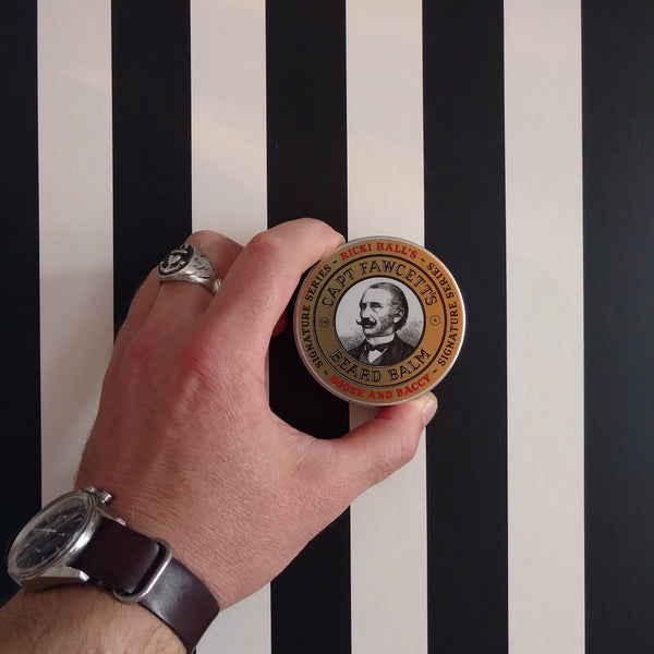 Captain Fawcett Booze Baccy Beard Balm Ricki Hall