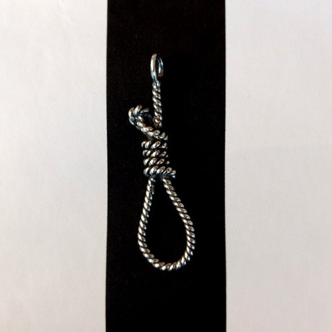 Ell Silver Milano handmade Noose Pendant from 925 Sterling Silver