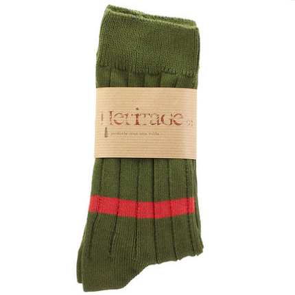 HERITAGE-9.1-Vinatge-Edition-Military-Green-Socks-Strümpfe-Made-in-Italy