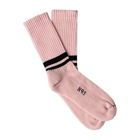 Heritage_91_Amarcord_Strümpfe_Socks_Old_Rose_Black_Stripes_Made_in_Italy